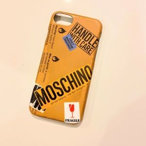 Moschino Handle With Care iPhone Case